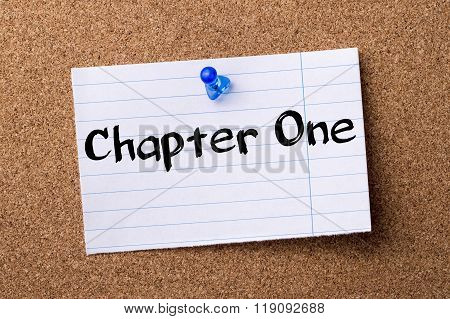 Chapter One - Teared Note Paper Pinned On Bulletin Board