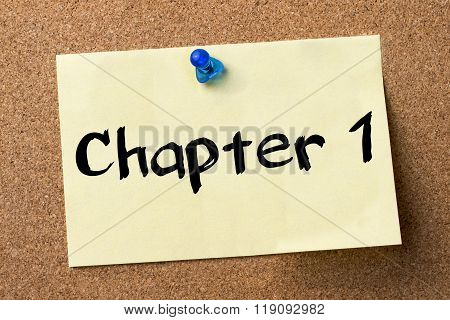 Chapter 1  - Adhesive Label Pinned On Bulletin Board