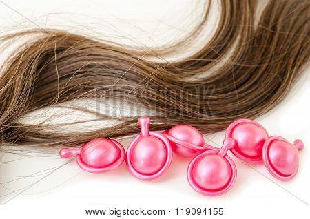 Hair Serum And Damaged Hair.