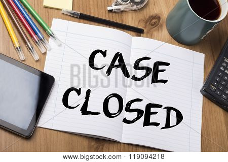 Case Closed - Note Pad With Text