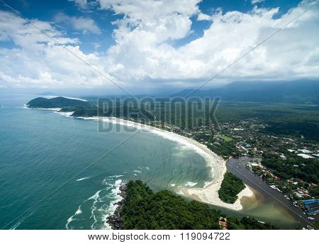 View of Northern Coastline of Sao Paulo State, Brazil