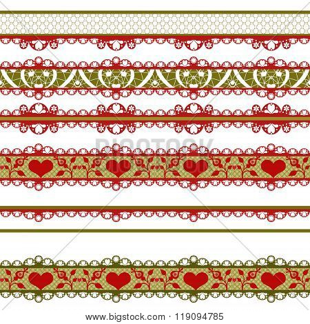 Seamless Lace Lacy Pattern On White Background