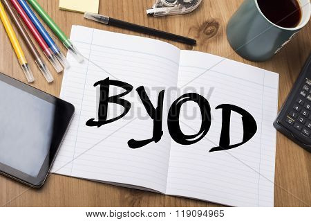 Byod - Note Pad With Text