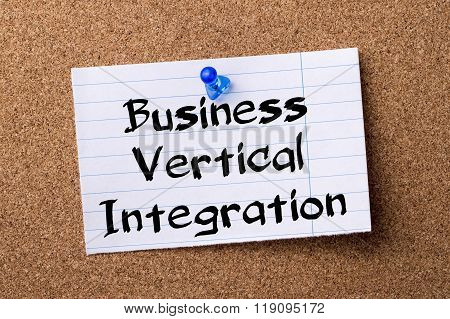Business Vertical Integration - Teared Note Paper Pinned On Bulletin Board