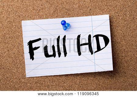 Full Hd - Teared Note Paper Pinned On Bulletin Board