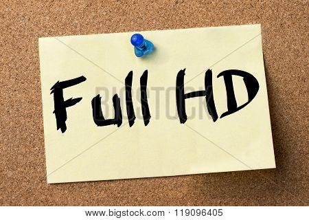 Full Hd - Adhesive Label Pinned On Bulletin Board
