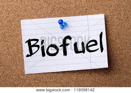 Biofuel - Teared Note Paper Pinned On Bulletin Board