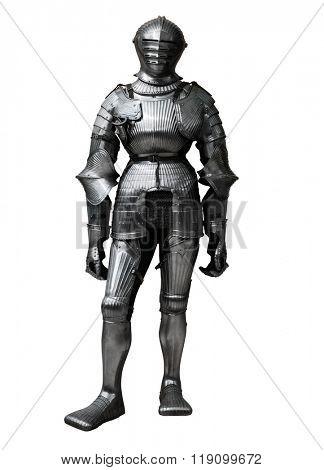knight isolated on white background