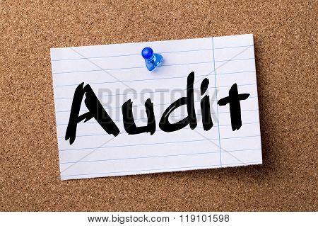 Audit - Teared Note Paper Pinned On Bulletin Board