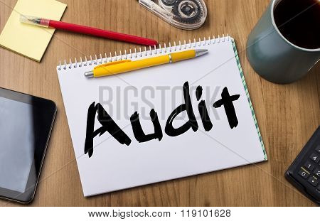 Audit - Note Pad With Text