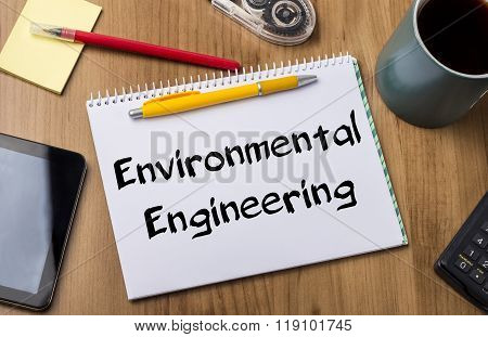 Environmental Engineering - Note Pad With Text