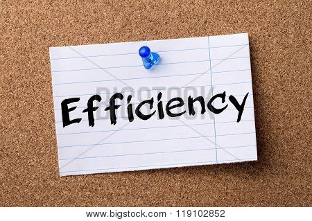 Efficiency - Teared Note Paper Pinned On Bulletin Board
