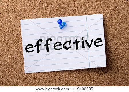 Effective - Teared Note Paper Pinned On Bulletin Board