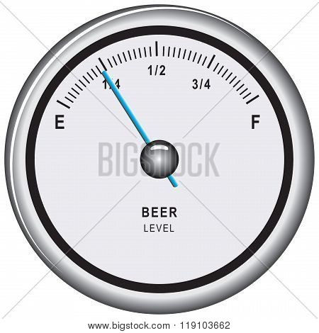 Pointer Level Indicator Of Beer