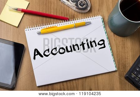 Accounting  - Note Pad With Text