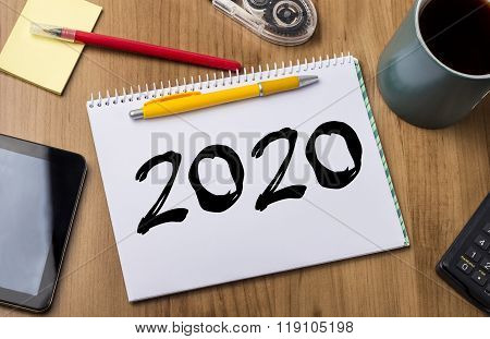 2020 - Note Pad With Text