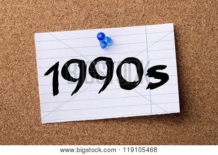 1990S  - Teared Note Paper Pinned On Bulletin Board