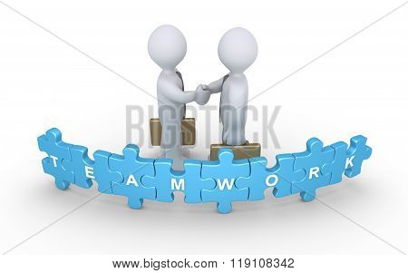Businessmen Agreement For Teamwork