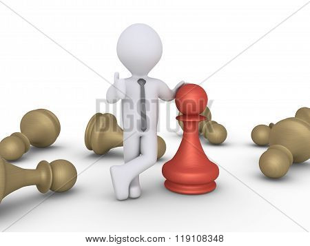 Chess Pawn Winner Amongst Others
