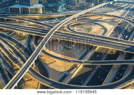 Highway Intersection In Dubai