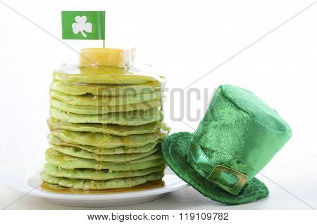 St Patricks Day Green Pancakes