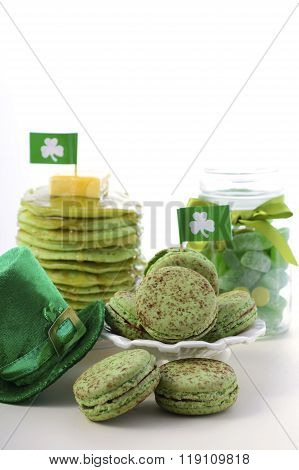 St Patricks Day Green Party Food.