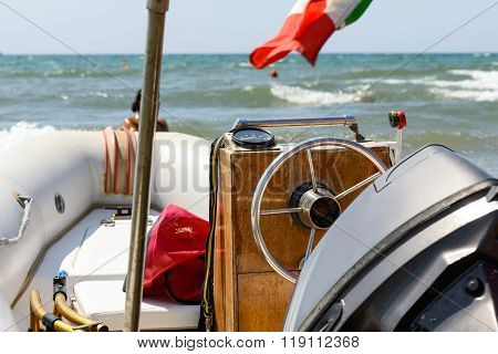 Boat With Rudder