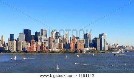 Lower Manhattan Sailing