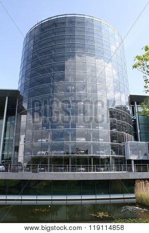 Dresden Germany - May 19 2014: Volkswagen's Glass Factory.