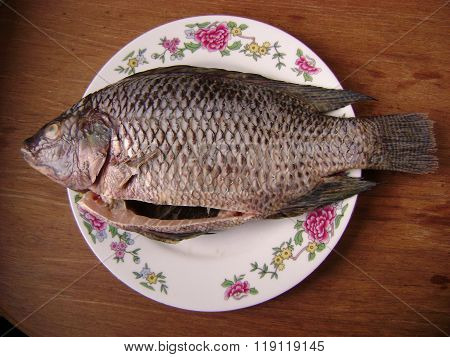 Crucian fish for cooking