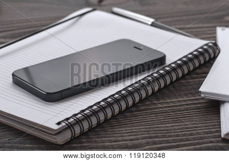 Black Smartphone In The Workplace