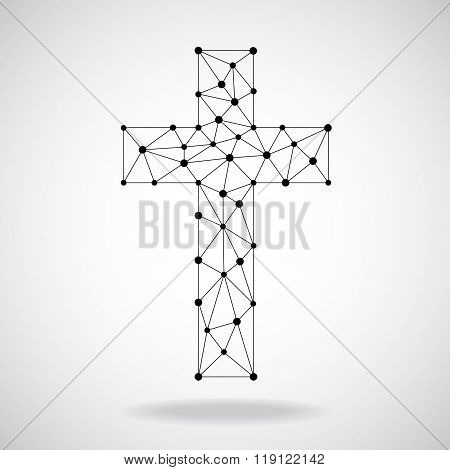 Abstract cross. Christian Symbol