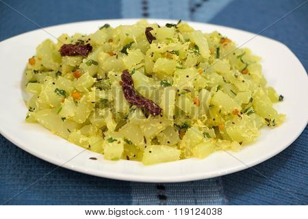 Chow Chow Or Chayote Subji From Karnataka, India