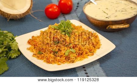 Tomato Bhath Is A Rice Preparation From Karnataka, India