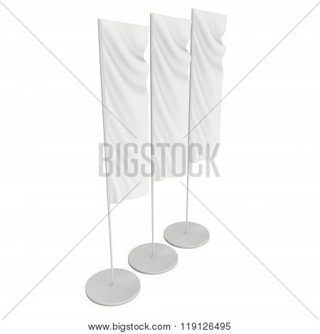 Flag Blank Expo Banner Stand.