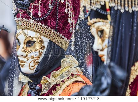 Portrait Of A Disguised Person - Venice Carnival 2014