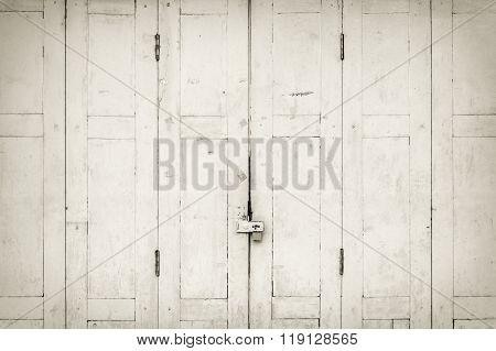 white folding door