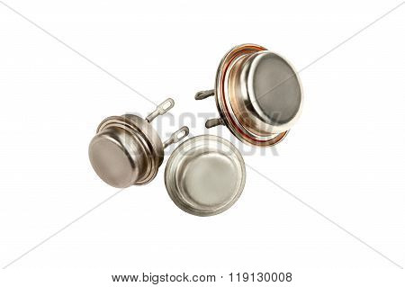 Transistors Isolated On White