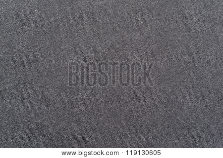 Speckled Textured Monochrome Background From Fabric Of Graphite Color