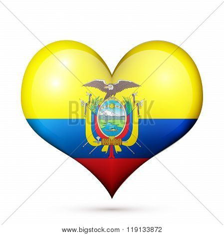 Ecuador Heart flag icon