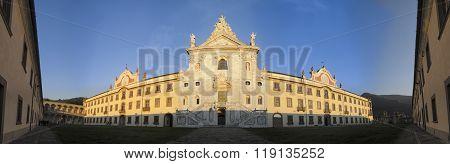 Facade Of The Charterhouse Of Calci