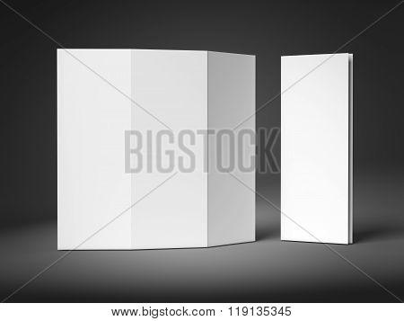 Tri-fold Brochure Leaflet Zigzag Folded
