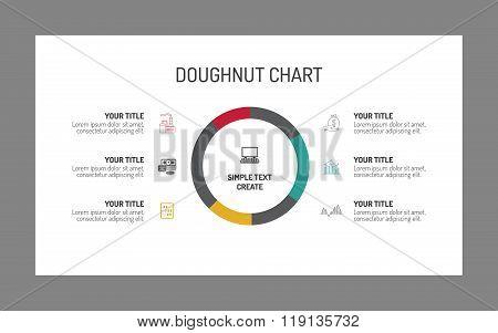 Single doughnut chart