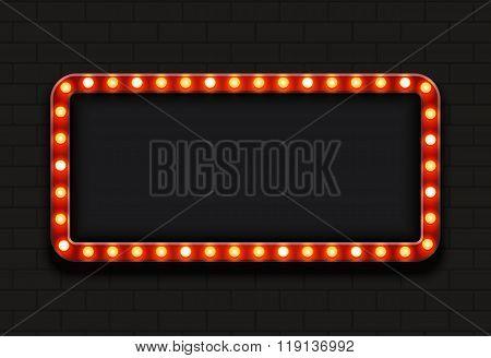 Vector modern retro billboard background
