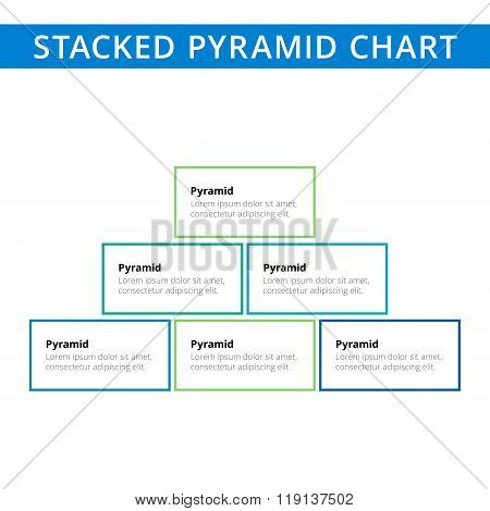 Stacked pyramid chart template 2