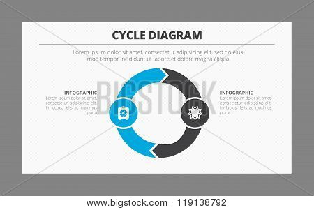 Two-Part Cycle Diagram Template