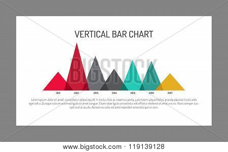 Vertical Triangle Bar Chart Template