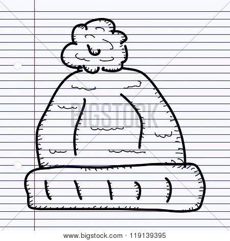 Simple Doodle Of A Woolly Hat