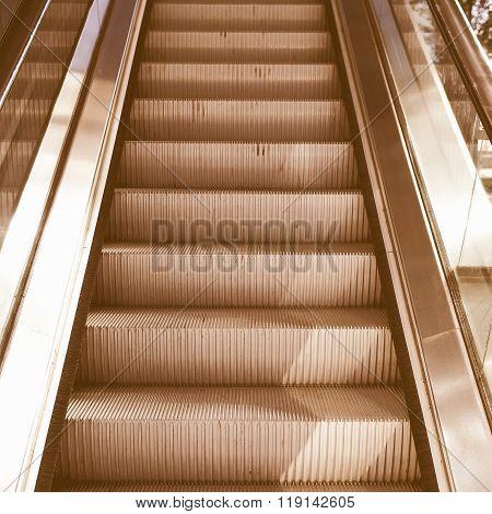 Escalator Picture Vintage