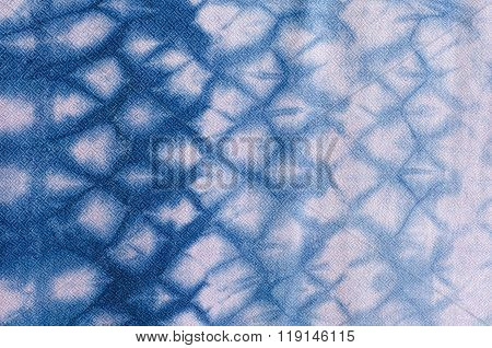 The Fabric Is Indigo Dye Background,local Fabric In Thailand